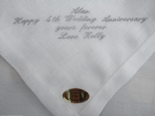 Gents, Mens Personalised Irish Linen Handkerchief
